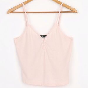 Sweet Snuggles Blush Pink Waffle Knit Cami Top
